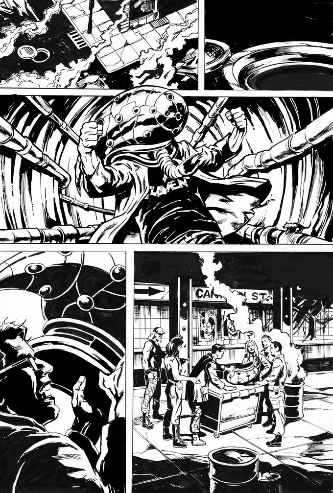 Phantom Flight page 3 by Bob Hall. Original art: $150
