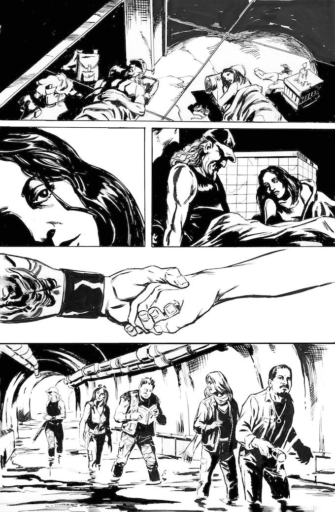 Phantom Flight page 5 by Bob Hall. Original art: $125