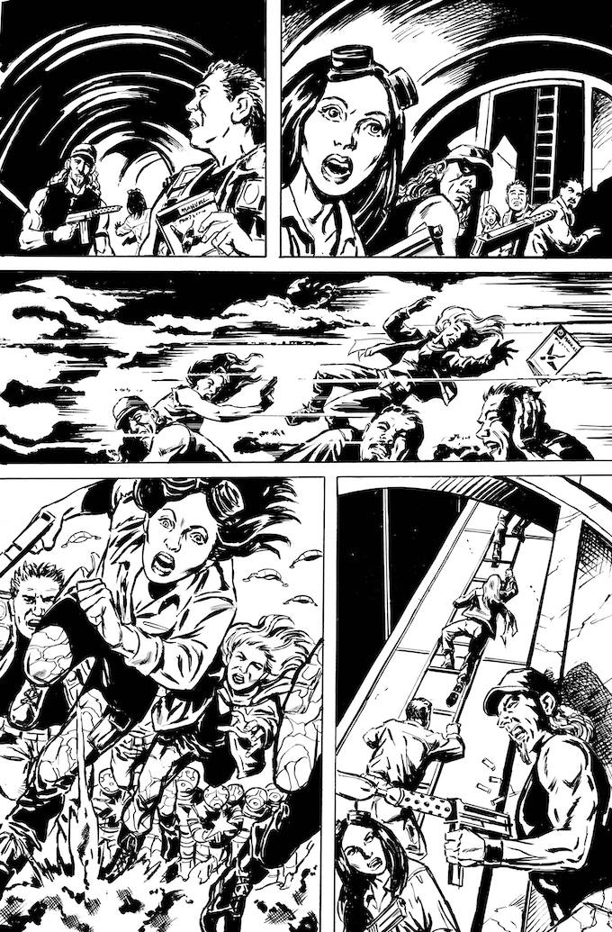 Phantom Flight page 6 by Bob Hall. Original art: $200