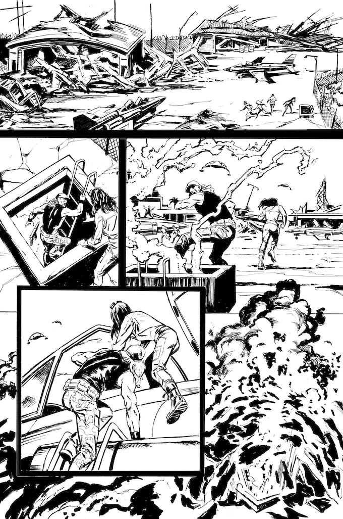 Phantom Flight page 7 by Bob Hall. Original art: $200