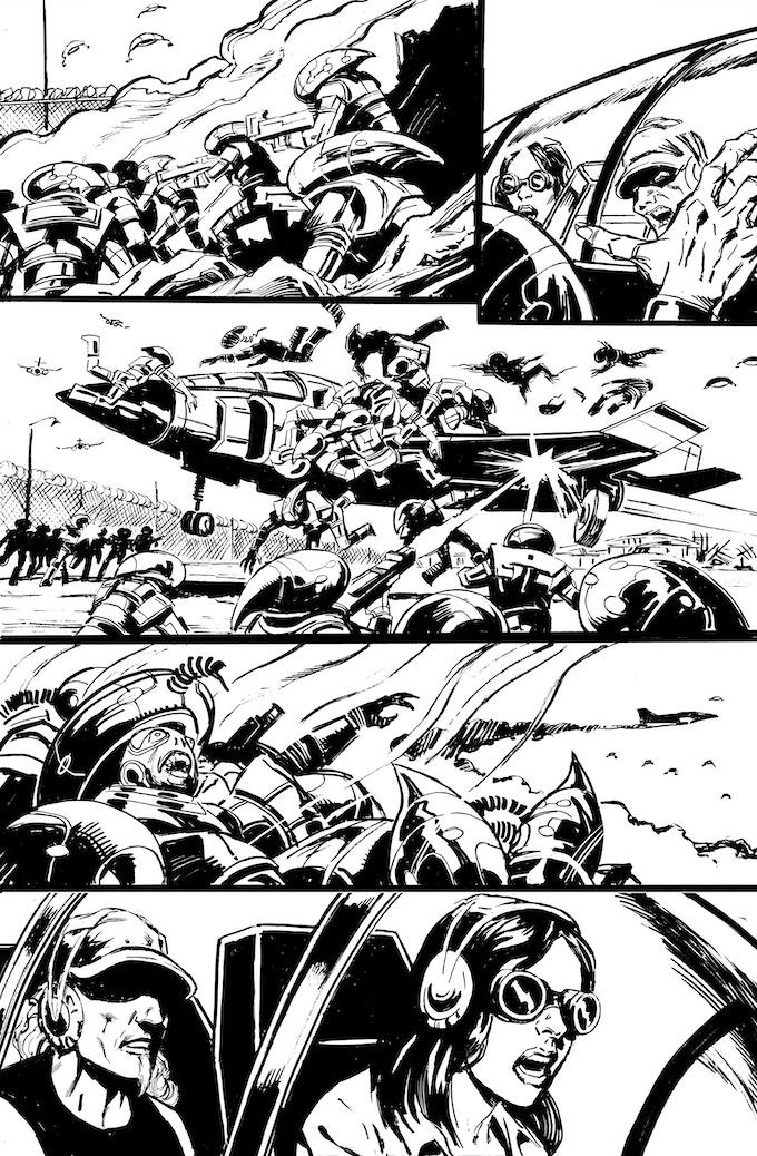 Phantom Flight page 8 by Bob Hall. Original art: $250