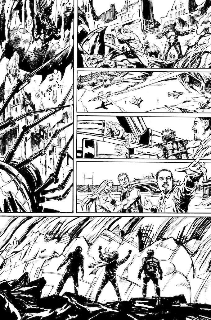 Phantom Flight page 10 by Bob Hall. Original art: $175