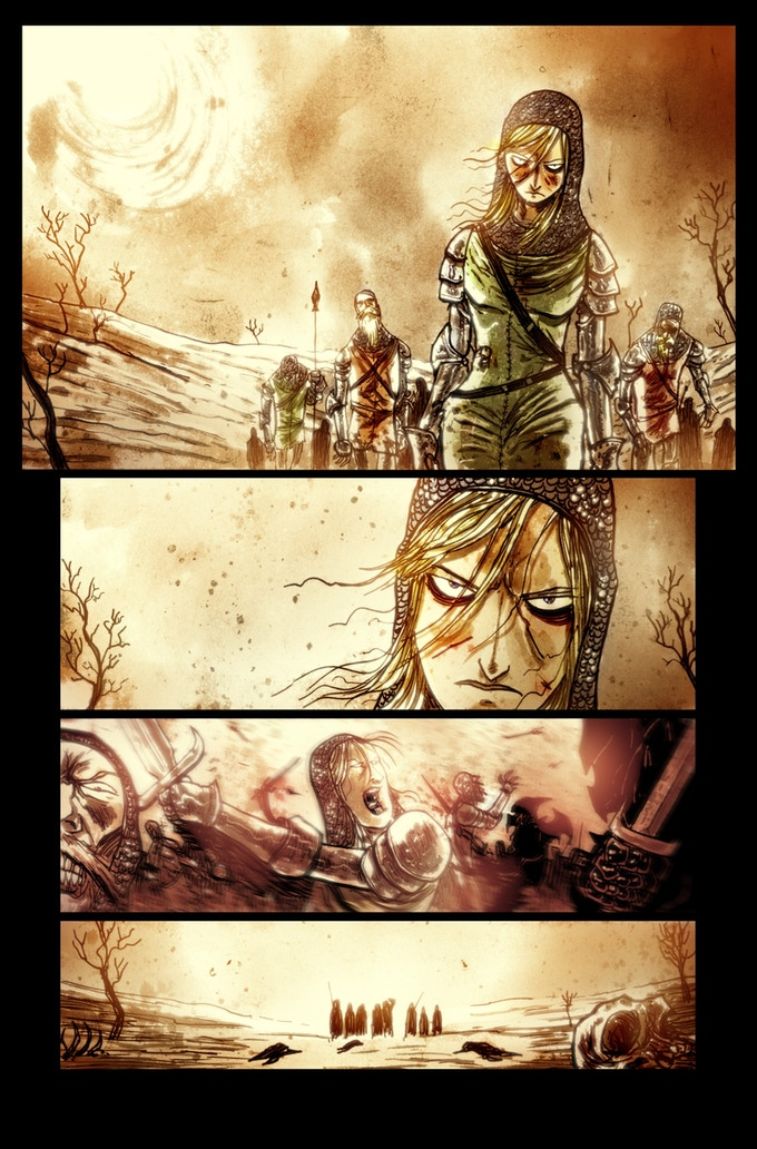 Lifebringer page 1 by Ben Templesmith. Proof only. (Original not available.)