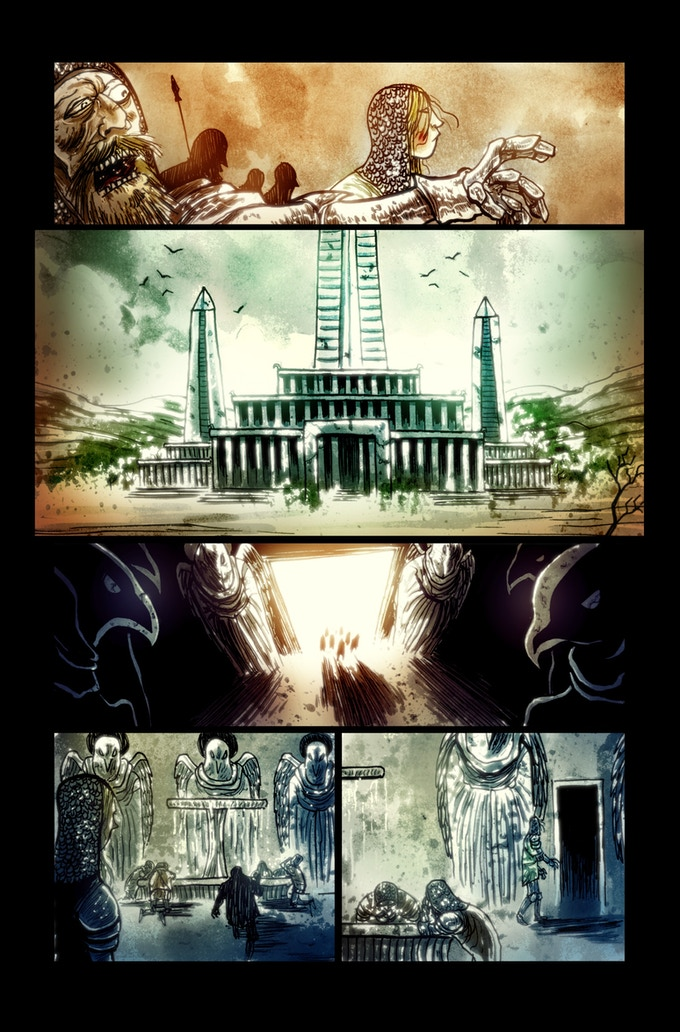 Lifebringer page 2 by Ben Templesmith. Proof only. (Original not available.)