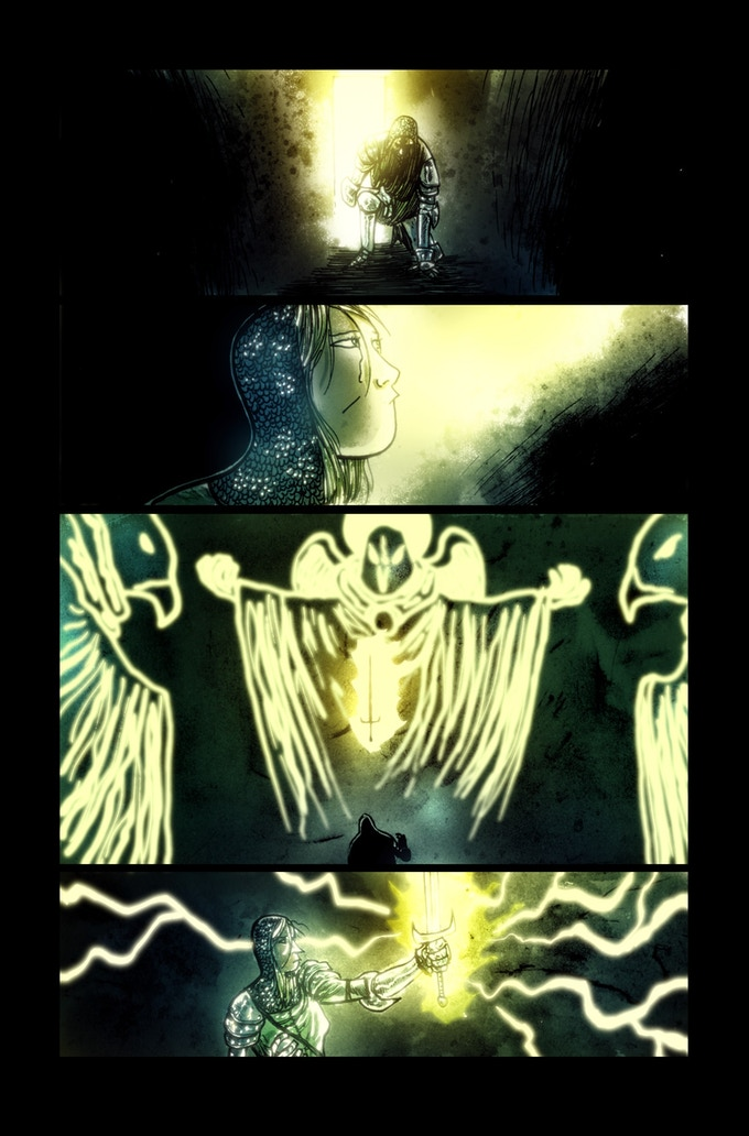 Lifebringer page 3 by Ben Templesmith. Proof only. (Original not available.)