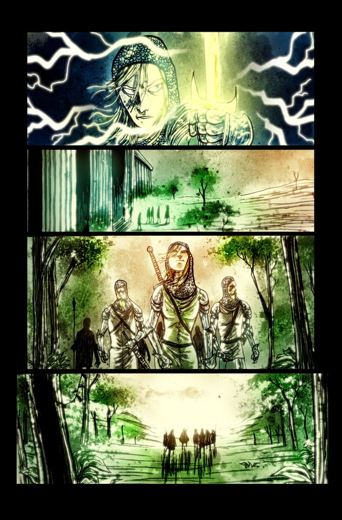 Lifebringer page 4 by Ben Templesmith. Proof only. (Original not available.)