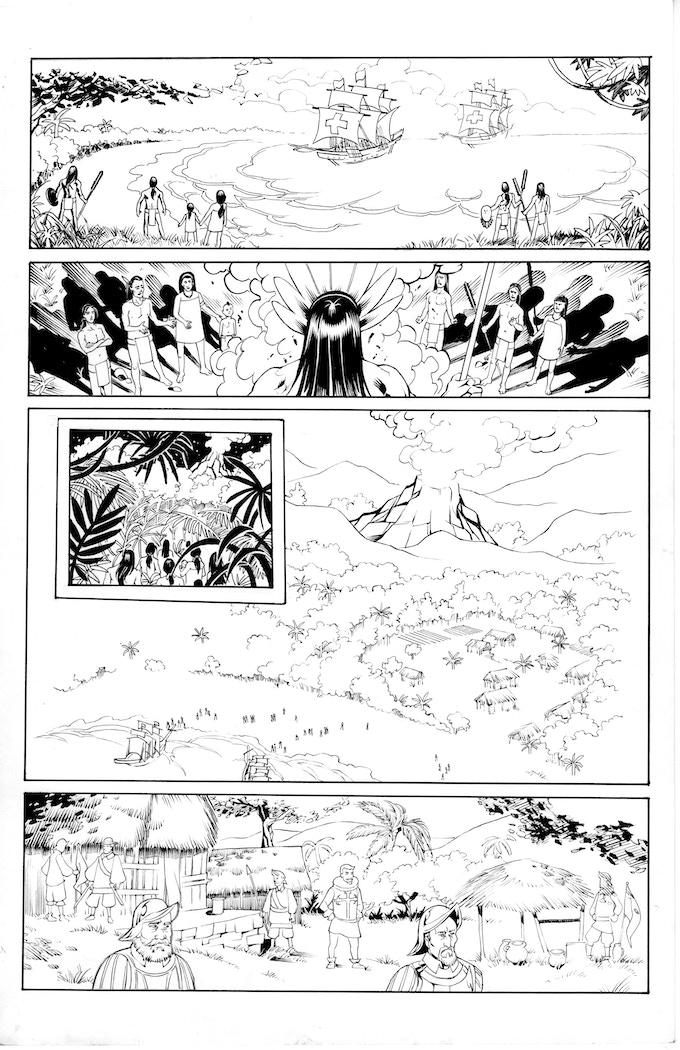 Atlacatl page 1 by Robert Daniel Ryan. Original art: $75