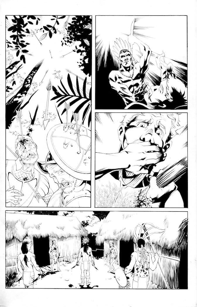 Atlacatl page 2 by Robert Daniel Ryan. Original art: $125