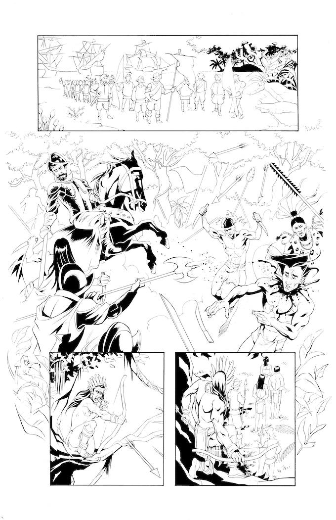 Atlacatl page 3 by Robert Daniel Ryan. Original art: $175