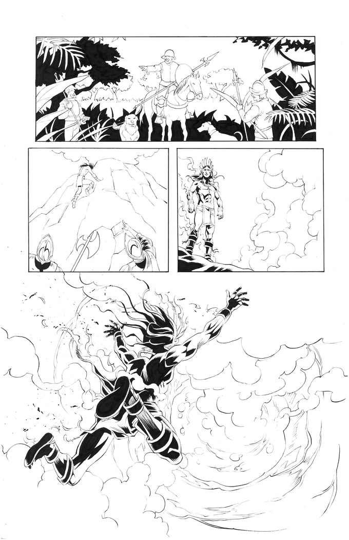 Atlacatl page 4 by Robert Daniel Ryan. Original art: $200