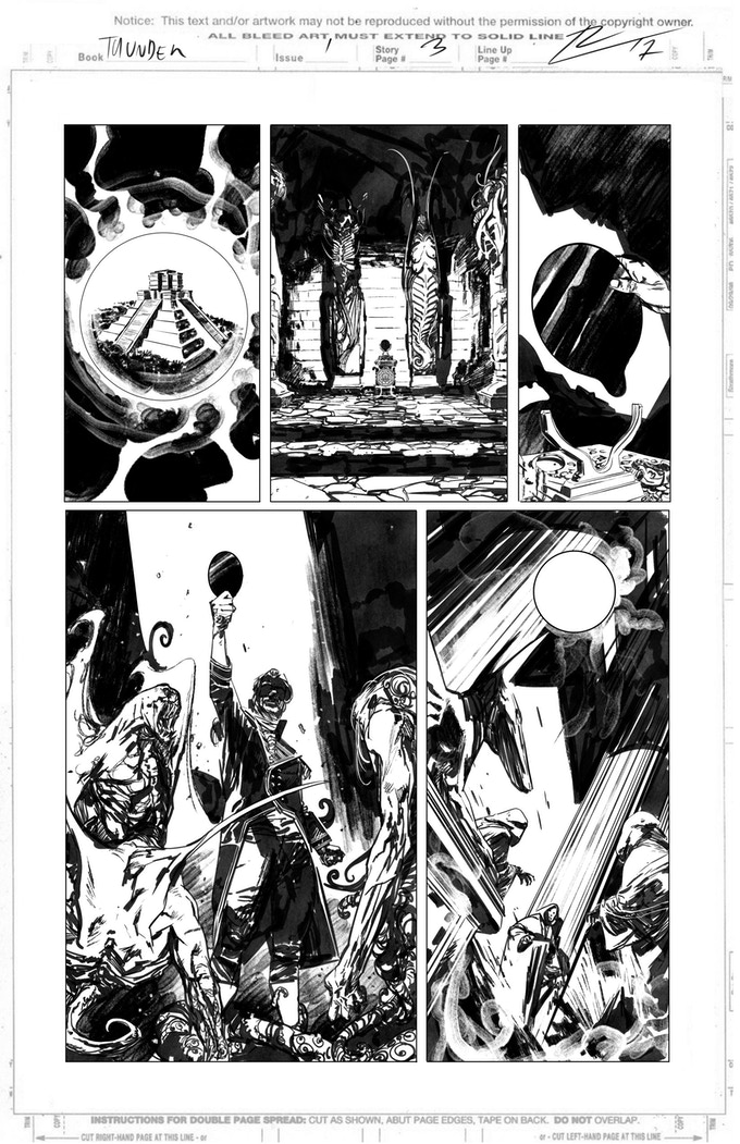 Obsidian & Gold page 3 by Roberto de la Torre. Proof only. (Original not available.)