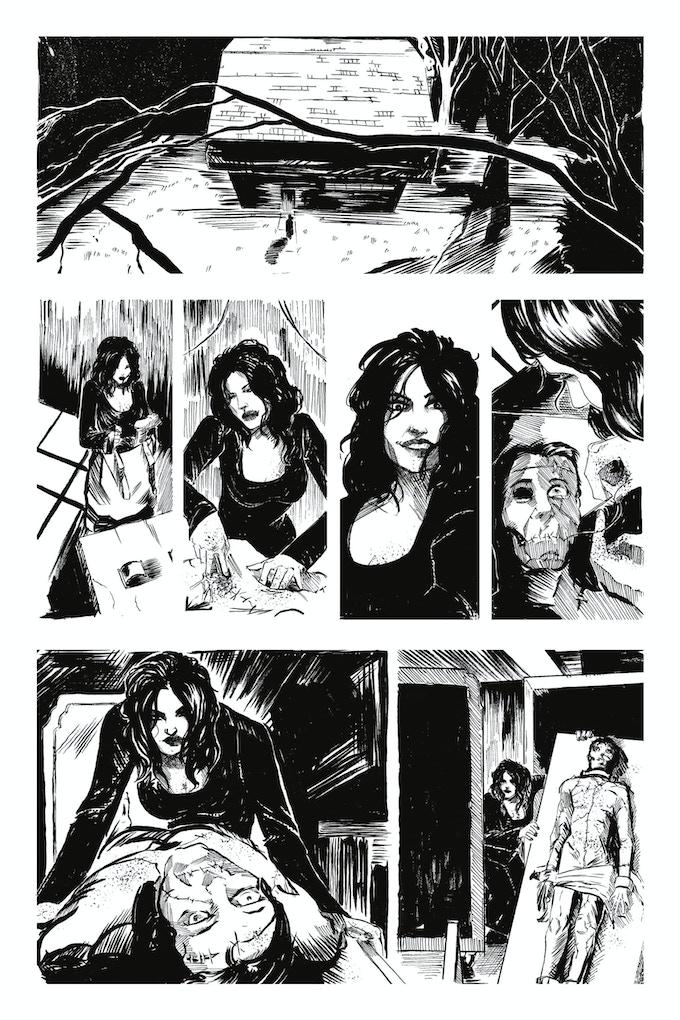 Second Lives page 3 by Joseph Schmalke. Original art: $200