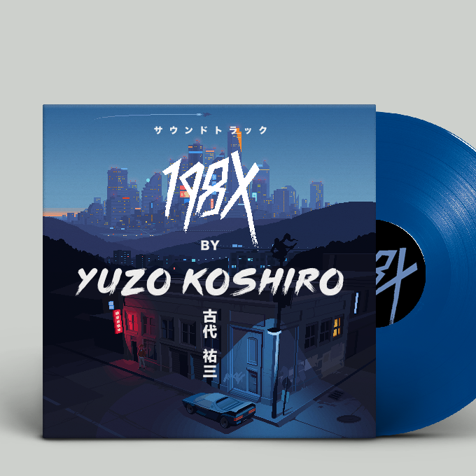 """The soundtrack """"198X by Yuzo Koshiro"""" is now available for pre-order as an exclusive 12"""" colored vinyl."""