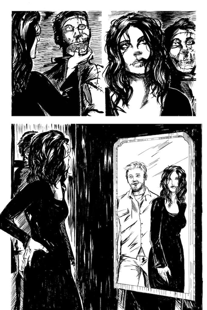 Second Lives page 4 by Joseph Schmalke. Original art: $200