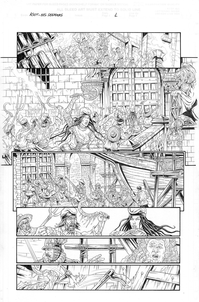 Els Segadors page 1 by Mike Ratera. Proof only. (Original not available.)