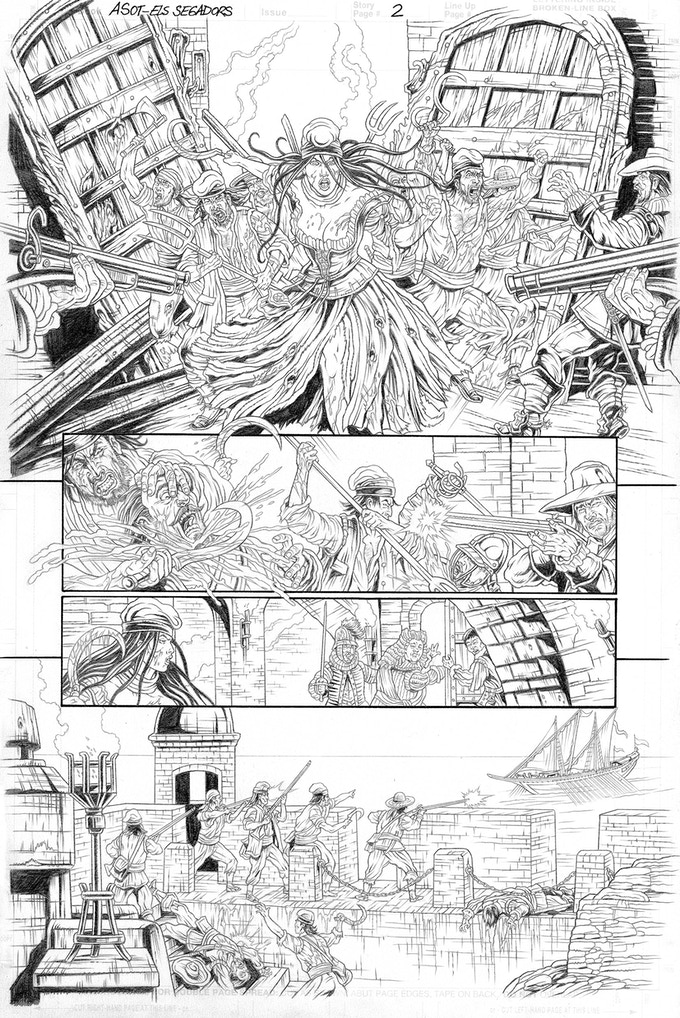 Els Segadors page 2 by Mike Ratera. Proof only. (Original not available.)