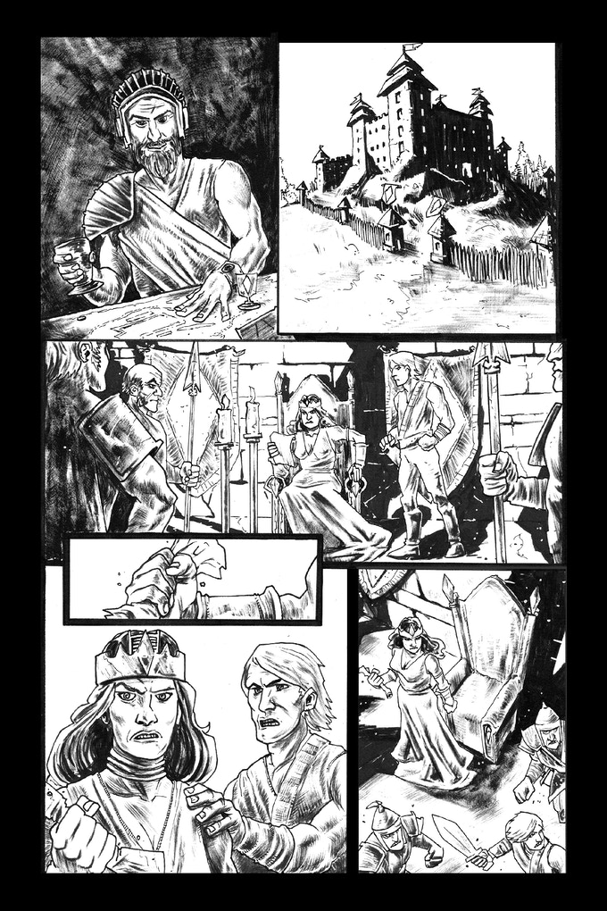 Tomyris page 2 by Trav Hart. Original art: $125