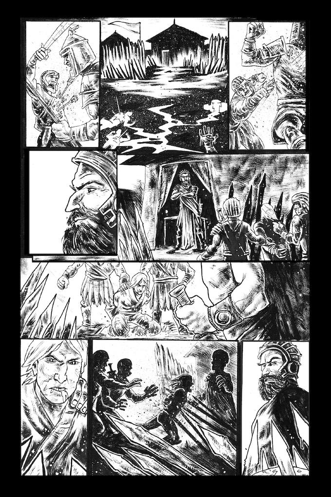 Tomyris page 3 by Trav Hart. Original art: $175