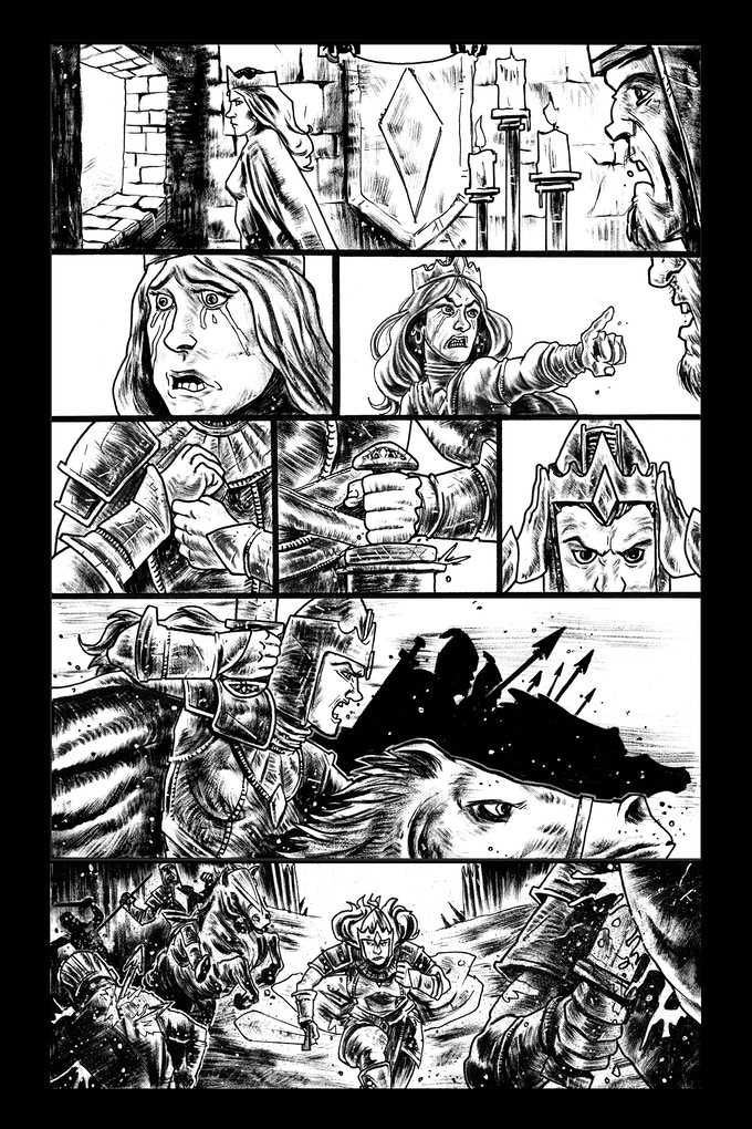 Tomyris page 4 by Trav Hart. Original art: $150
