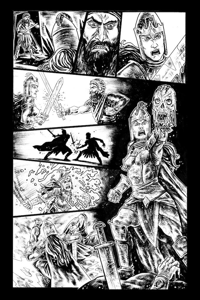 Tomyris page 5 by Trav Hart. Original art: $200
