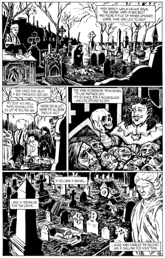Charles II page 1 by Rafer Roberts. Original art: $250