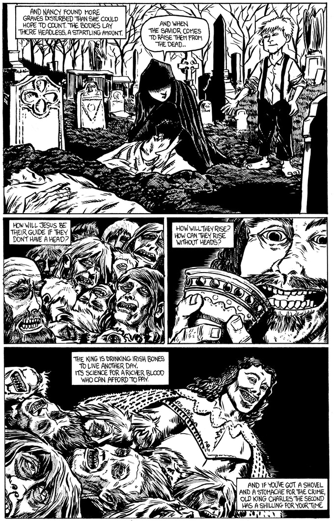Charles II page 2 by Rafer Roberts. Original art: $200