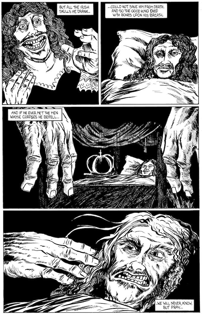 Charles II page 3 by Rafer Roberts. Original art: $150