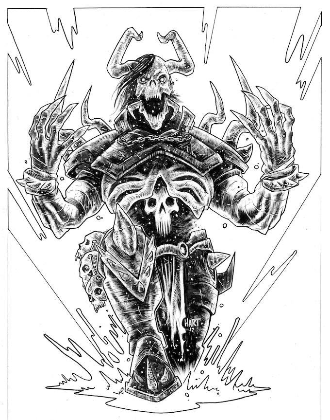 Udoroth by Trav Hart. Original art: $600