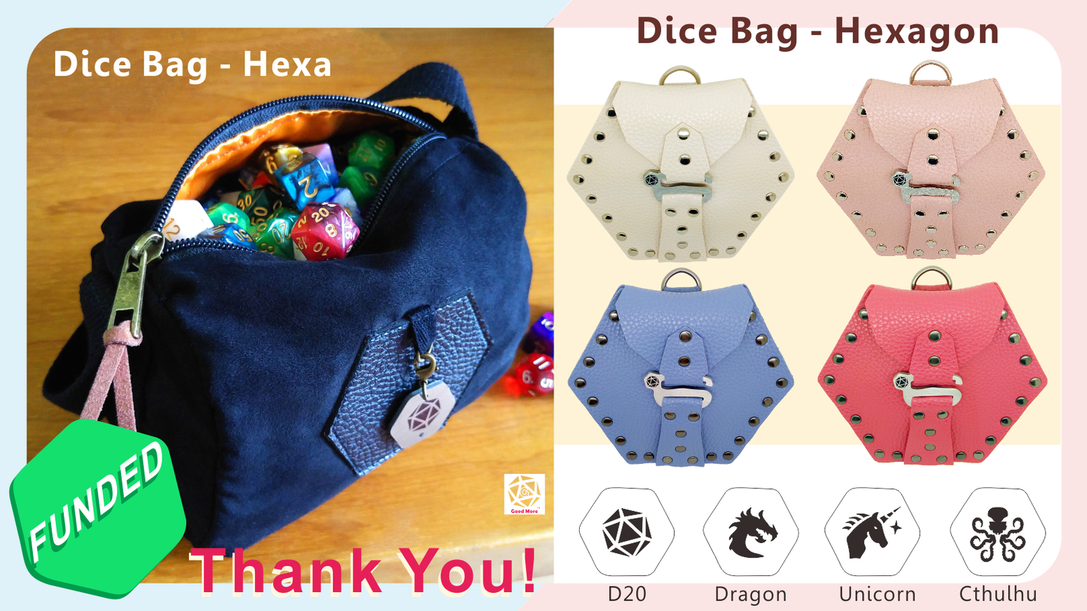 Dice Bag Hexagon By Good More