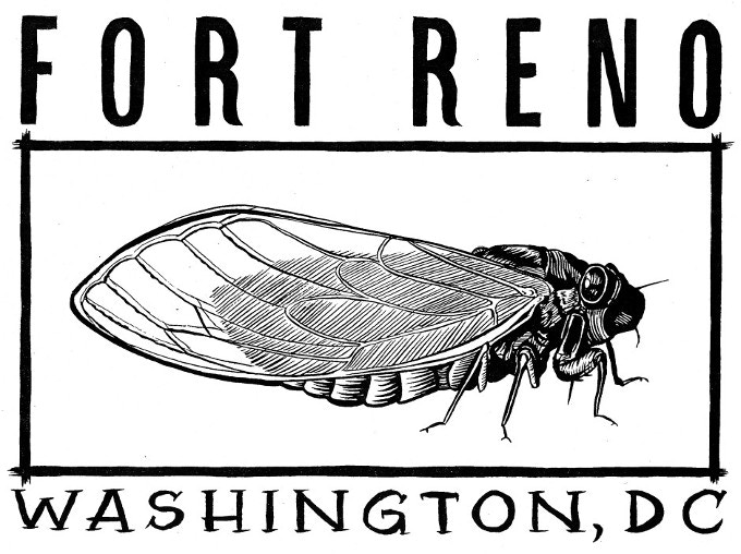 "Vintage Fort Reno ""Cicada"" design by Ryan Nelson"