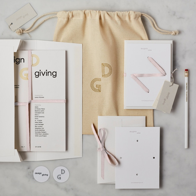 Pledge £55 or more and receive DESIGN GIVING MAGAZINE + LUXURY PACK reward