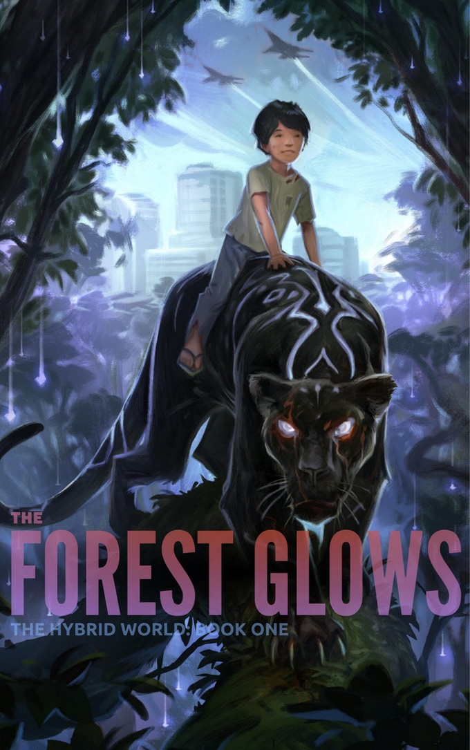 THE FOREST GLOWS, Cover Art by Andrew Bosley