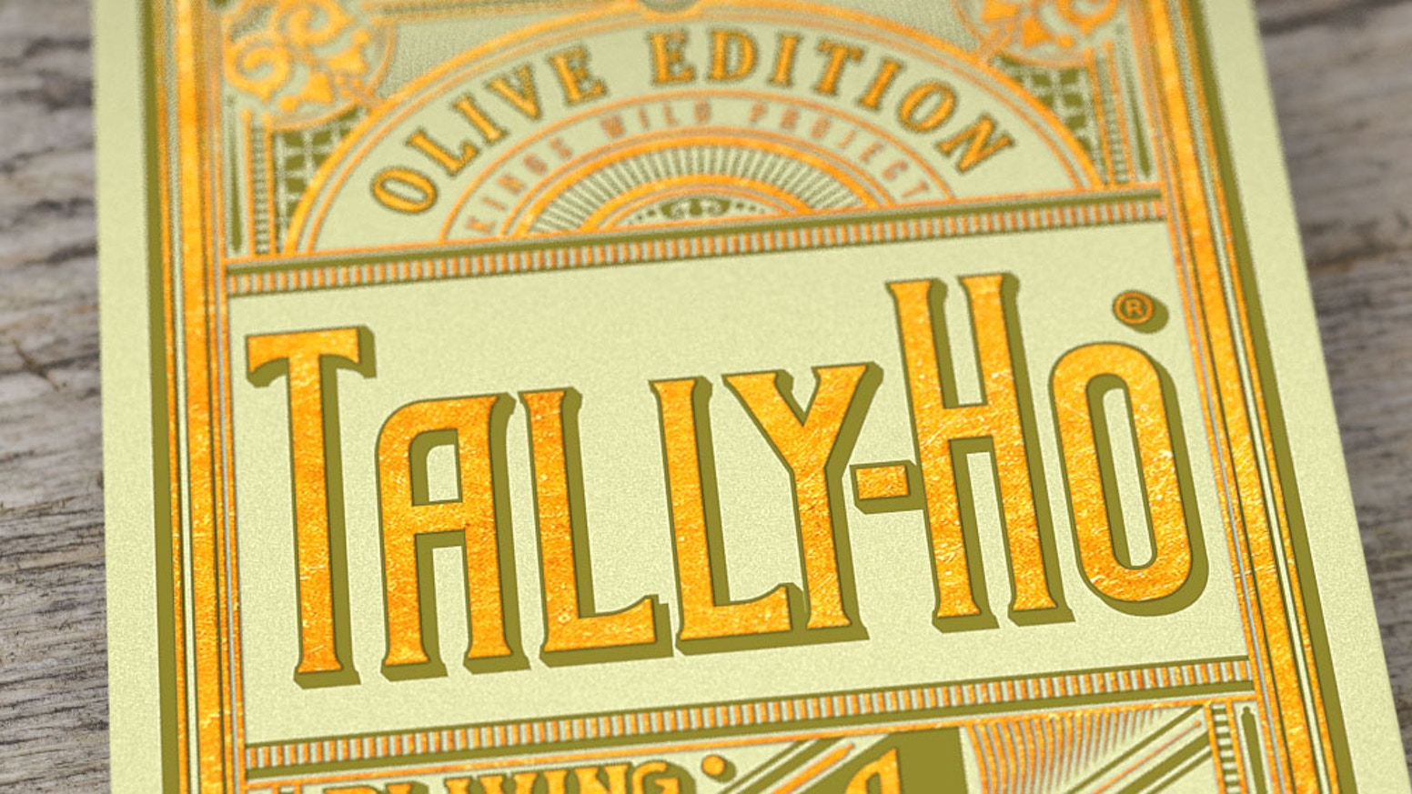 The Olive Tally Hos are the 5th deck in a series of limited edition playing cards designed by Jackson Robinson.