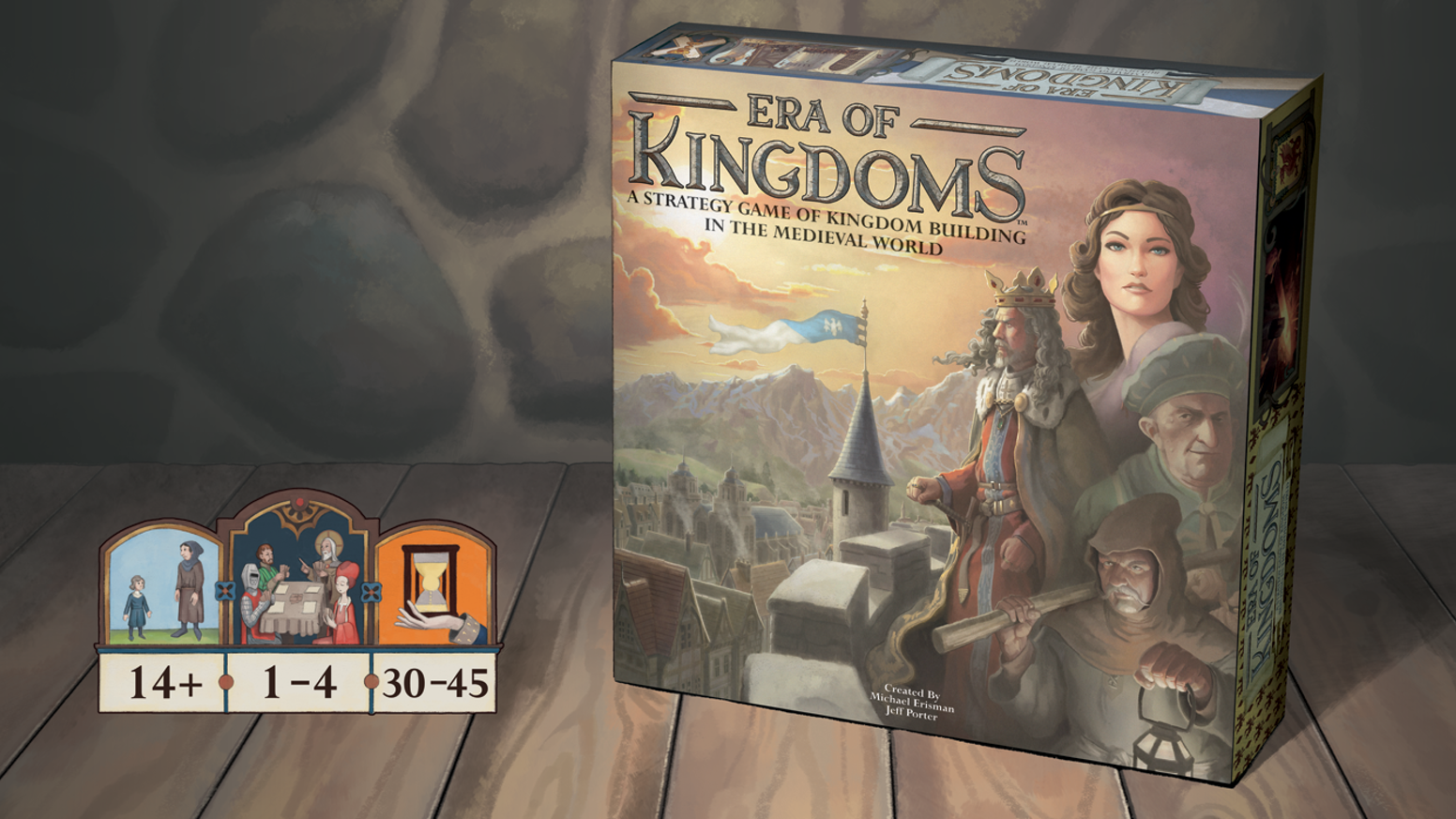 A kingdom building strategy game for 1-4 players. Take your kingdom from the middle ages into the enlightenment!
