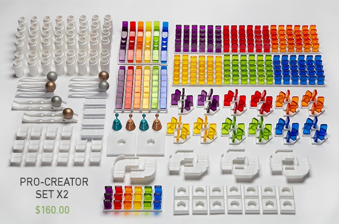 $160 - Total of 1088 pieces with 6 Colors (Yellow, Red, Green, Purple, Blue, Orange) AND a Free Wowmino Fidget
