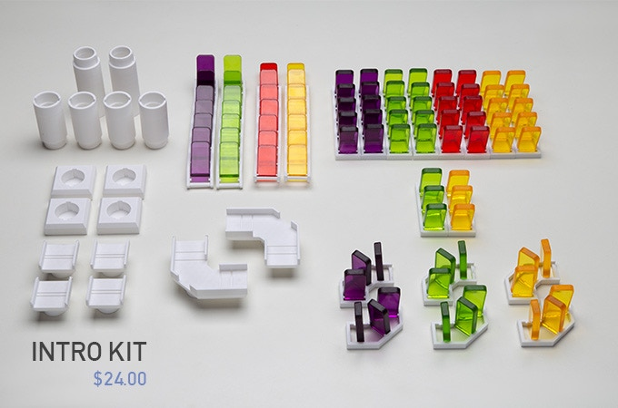 $24 - Total of 128 pieces with 4 Colors (Yellow, Red, Green, Purple)