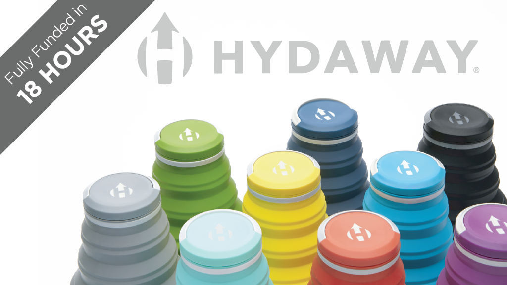 HYDAWAY. The world's most collapsible water bottle, reborn. project video thumbnail