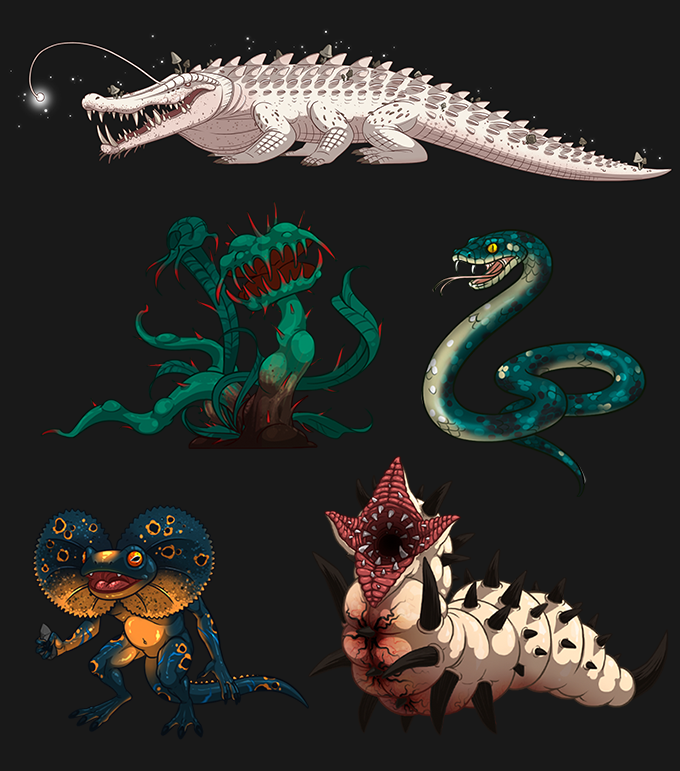Monster's concept arts