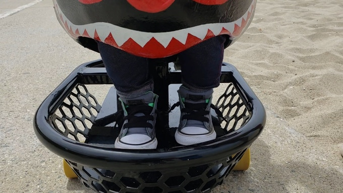 Keep your restless kid contained with our footrest and harness.