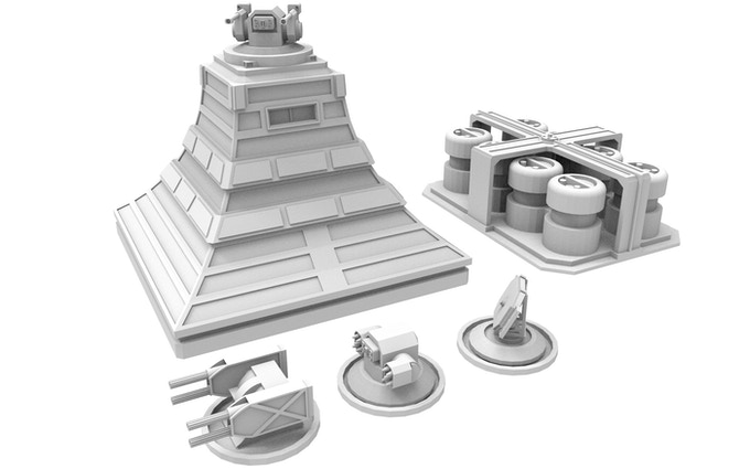 NEW! Defensive Turret with easily changeable turrets and Energy Station