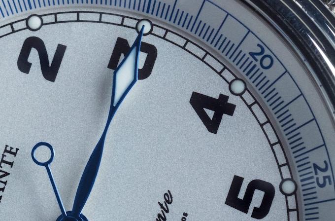 Textured metallic dial and inner bezel