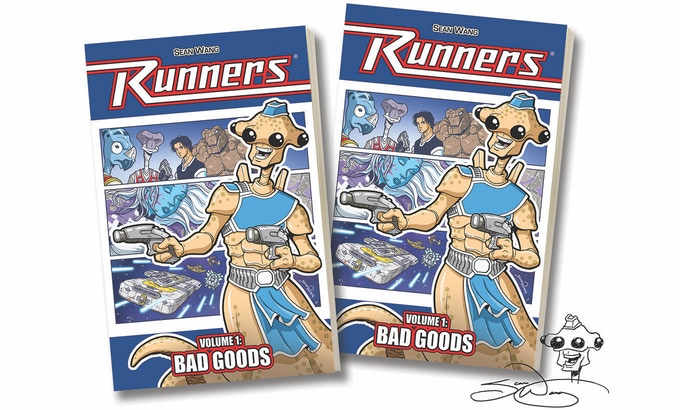 Runners Vol 1: Bad Goods paperback or hardcover, unsigned or signed with head sketch