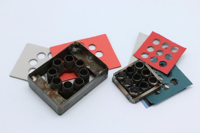 Finally the 2 custom made punch holes