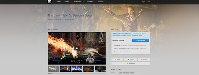The Bards Tale IV by inXile entertainment » The Bard Takes