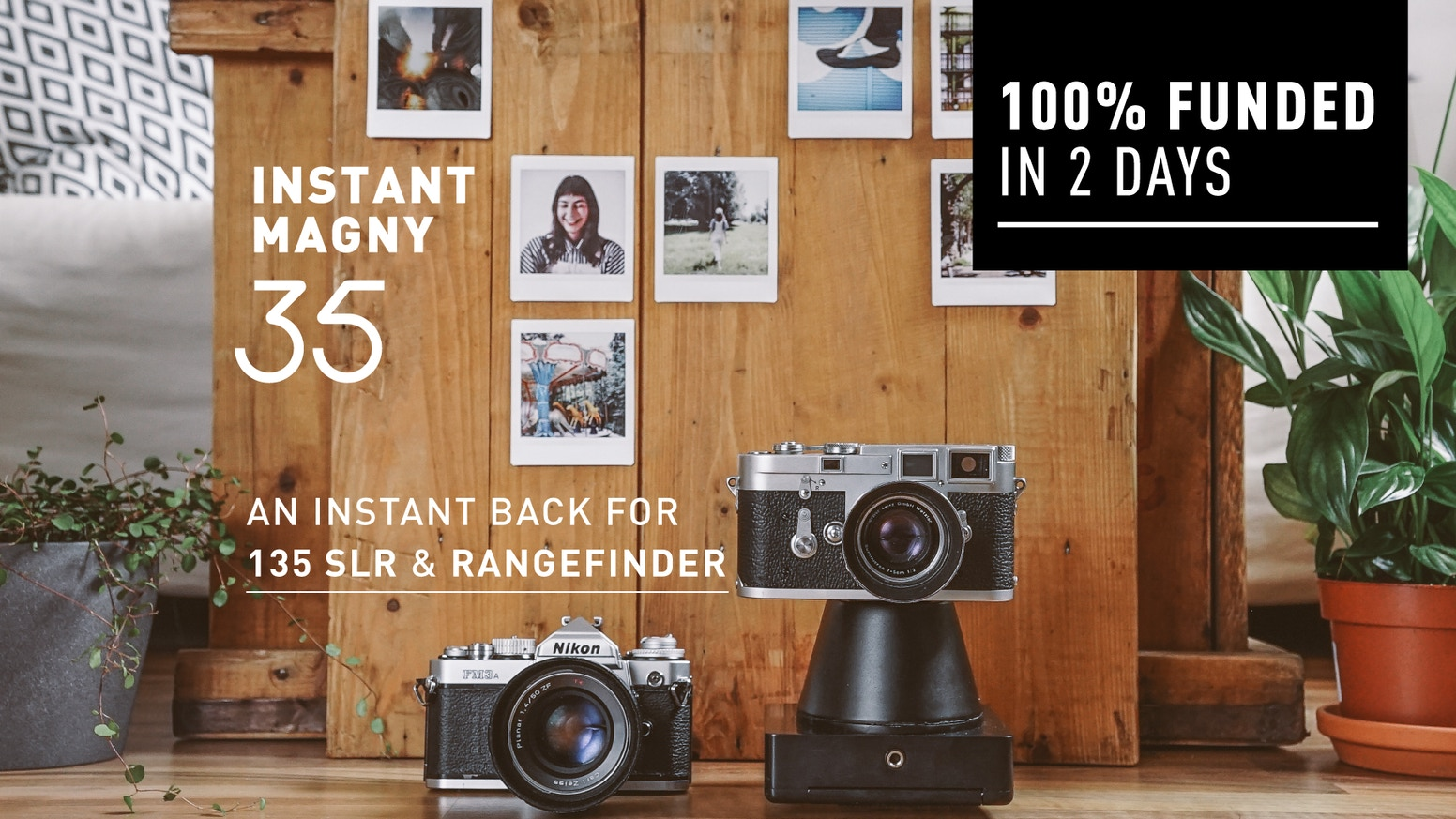 Enables you to use a 135 SLR and Rangefinder camera to capture instant photographs without any modifications!