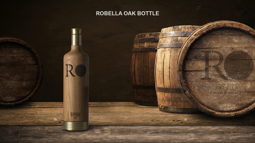 Roblella: Premium Oak Bottle with removable base.