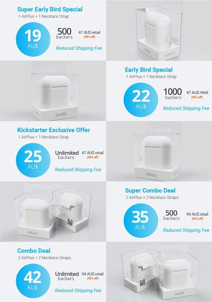 AirPlus - Wireless Charging Protective Case for AirPods by HiQ ...