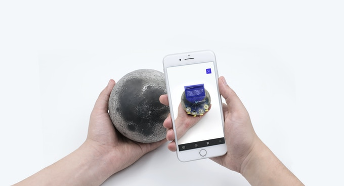 Our first project, LUNAR, and the AR app.