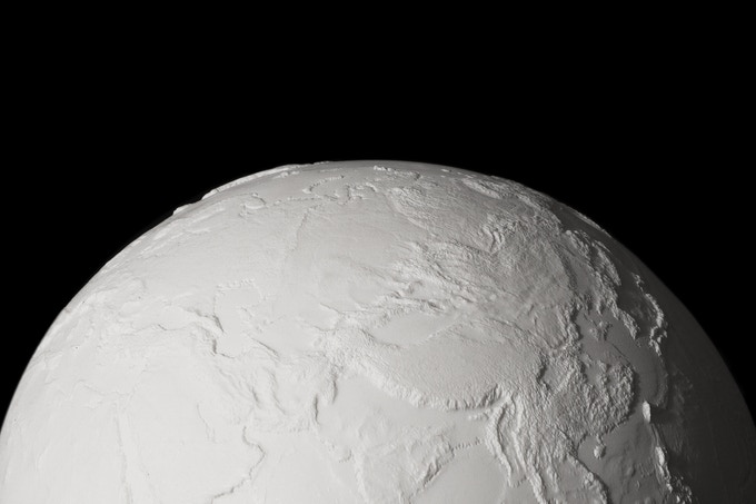 An unpainted EARTH.