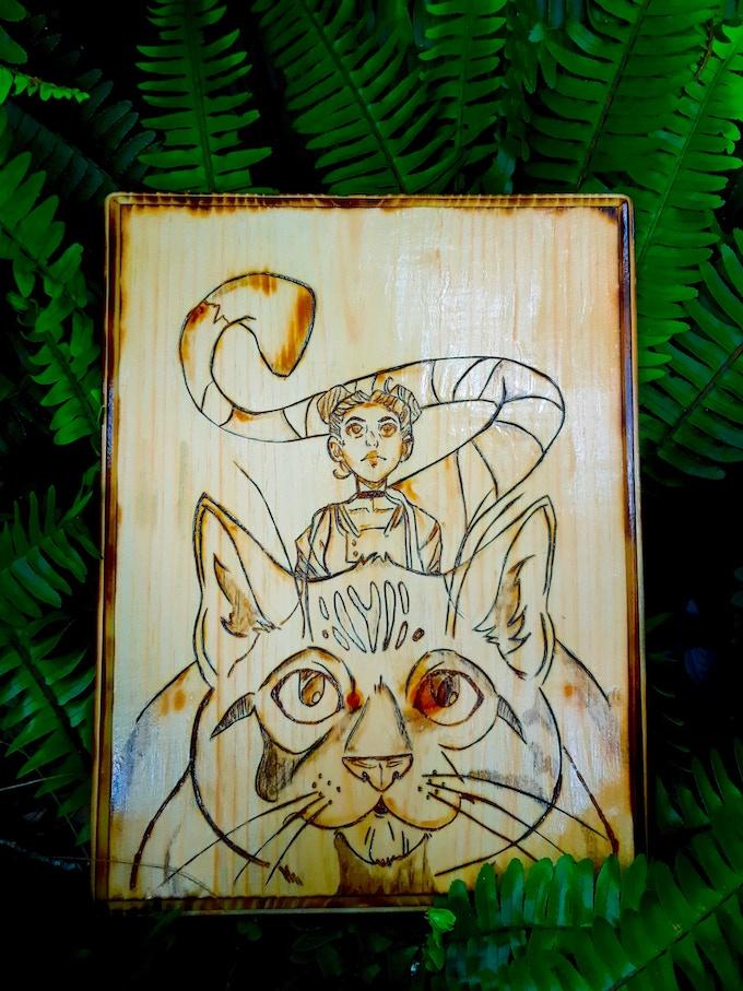 Wood burned art piece by Tonya Gensel of Gypsy Daydream Inc